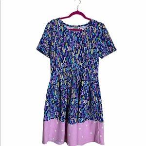 LuLaRoe Amelia Feather Fit & Flare Dress